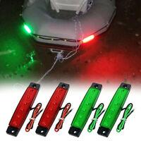 4Pcs Red Green Boat Navigation LED Lights Stern Lights Boats Starboard Ligh U0N4