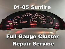 01 05 Pontiac Sunfire Sdometer Instrument Gauge Cer Repair Service