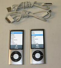 Lot of 2 Silver Apple iPod nano (5th Gen) 8Gb Mp3 Players w Video A1320 ~ Reset