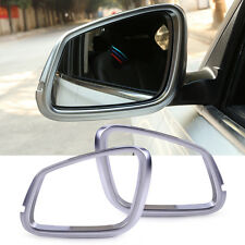 2x Chrome Plated Rearview Mirror Frame Cover Trim Fit for 2013-15 2016 BMW X5 X6