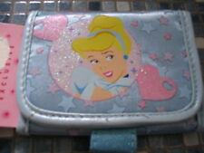 Disney Store Cinderella Girls Glittery Heart Purse Wallet Stunning BRAND NEW!