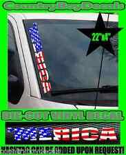 'MERICA Flag VERTICAL Windshield Vinyl USA Decal Sticker Car Truck Merica Murica