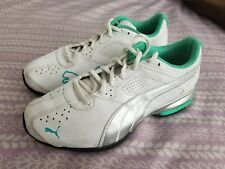 Puma Womens Sneaker Shoes, Worn Twice, Size 7.5, White W/ Blue Accents EUC!!!!!