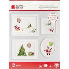 Martha Stewart Crafts Merry And Bright Santa Glittered Window And Mirror Clings