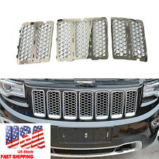 Front Upper Grille Inserts Honeycomb Mesh For Jeep Grand Cherokee 2014 2015 2016