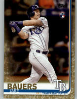2019 Topps Series 1 Gold Parallel /2019 #311 JAKE BAUERS Rays Rookie RC