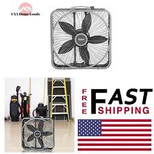 LASKO Power Plus Box Fan 20 in. Portable High Speed Air Cooler Durable Steel