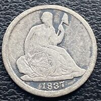 1837 Seated Liberty Half Dime 5c Better Grade #29873