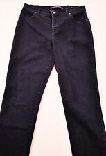 Women's Gloria Vanderbilt amanda jeans size 8P denim blue stretch five pockets