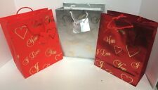 "12 Valentine Gift Bags ""I Love You"" Paper Gift Bag Wholesale 8""x10""x4"""