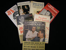 Vintage John F Kennedy, RFK, JACKIE, Collectible Magazine / Paperback Lot, MINT