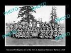 OLD LARGE HISTORIC PHOTO OF VANCOUVER WASHINGTON, THE 7th US INFANTRY SQUAD 1920