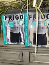 2 Pack 6 Inseam XL Frigo Tencel Stretch Collection Boxer Brief Underwear Blue