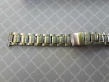 BRACELET MONTRE WATCH BAND   bicolore //  acier inoxydable    16 mm  Ref RN19