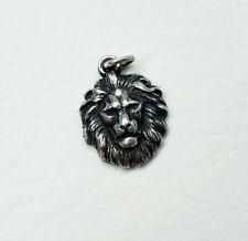 Rare, Retired James Avery Detailed Lion Head Pendant or Charm