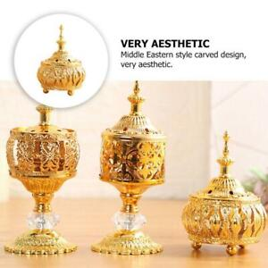 Delicate Middle East European Lace Golden Incense Burner for Home Decor * 1