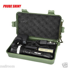 6000LM CREE XM-LT6 LED Focus Taschenlampen Torch Zoom+18650+USB/Car Lade+box Set