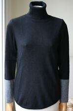 360 Cashmere Colorblock Col Roulé Sweater Small