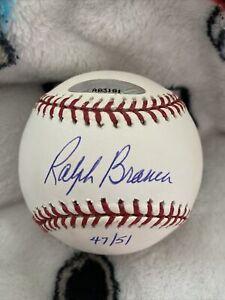 Ralph Branca Signed Baseball Numbered To 51. JSA