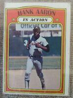 1972 TOPPS #300 HANK AARON IN ACTION HOF Atlanta Braves HALL OF FAME GOAT CASE