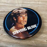 "1983 Staying Alive Film 1 1/2""  Pinback Button John Travolta Paramount Pictures"