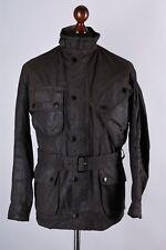 Barbour International Suit Vintage Waxed Biker Jacket Size M / C38 / 97cm
