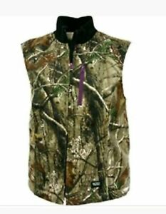 Walls Women's Realtree Camo Sherpa Lined Full Zip Vest  ~ Sz S ~ NWT
