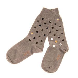 N 21 Knitted Everyday Socks Size 36 Embellished Ribbed Cuffs Melange Effect
