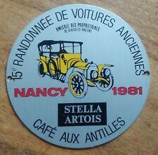BADGE DE CALANDRE 15e Randonnée de Voitures Anciennes 1981 Nancy. Stella Artois