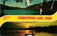 Vintage Postcard - Greetings From Candlewood Lake Posted Connecticut CT #2013