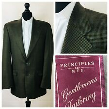 Principles Mens Jacket Blazer Chest 38 Long Wool Green Tweed Style  P45A