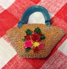 Note Holder 3D MAGNET Handbag Purse Pocketbook Flowers