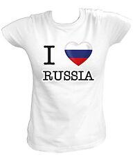Damen T-Shirt - I LOVE DG - Россия Russland Russia Moskau RUS Fußball Soccer