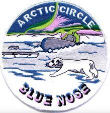 "US Navy Blue Nose Iron On Patch Arctic Circle 5"" (large) 8025 Shellback Military"