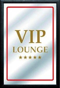 Vip Lounge Espejo de Pared BAR Salas de Fiesta Pub Nuevo 30 CM