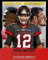 Tom Brady, Rob Gronkowski, Antonio Brown Tampa Bay Buccaneers 8x10 Wall Art