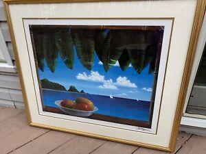 Dina Farris Appel Tropical Fantasy Signed Framed 338/400 Lithograph 2005
