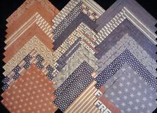 12x12 Scrapbook Paper Cardstock Vintage Nation Patriotic USA 40 Lot Stars Flag