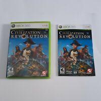 XBox 360 Case And Instruction Book For Civilization Revolution