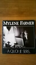 "§§§ MYLENE FARMER CD SINGLE "" A QUOI JE SERS."" label avec logo Polydor  §§§"