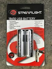 Streamlight 18650 Li-Ion USB Rechargeable Battery 22102 - 2 Pack