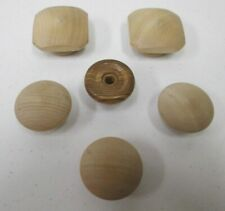 Vintage Lot of 6 Wooden Knobs Drawer Pulls Handles Cabinet Cupboard Door Square