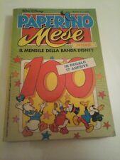 PAPERINO MESE - N.100 - CON ADESIVI - IL MENSILE DELLA BANDA DISNEY - 1988