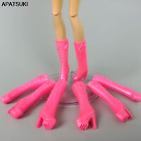 5pair/lots Random Color High Heels Shoes For Barbie Doll Boots for 1/6 BJD Dolls