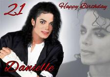PERSONALISED MICHAEL JACKSON BIRTHDAY CARD