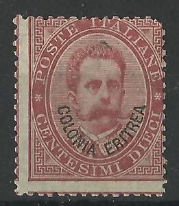 ERITREA 1893 10c ROSE-RED MINT