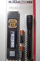 Maglite 2 AA Cell LED Flashlight Mini Pro Torch Black 272 Lumen ML55021 New