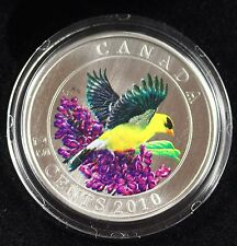**2010** Goldfinch, Coloured, $.25 Cent Coin