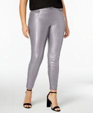 HUE Womens Faux Leather Paneled Leggings Black XS