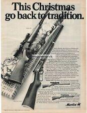 1971 Marlin Golden 39A Zane Grey Century Rifle Christmas Gift Vtg Print Ad